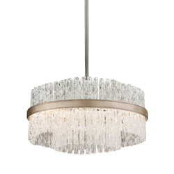 Corbett Lighting 204-44 Chime 4lt Pendant in Hand-Crafted Iron And Stainles