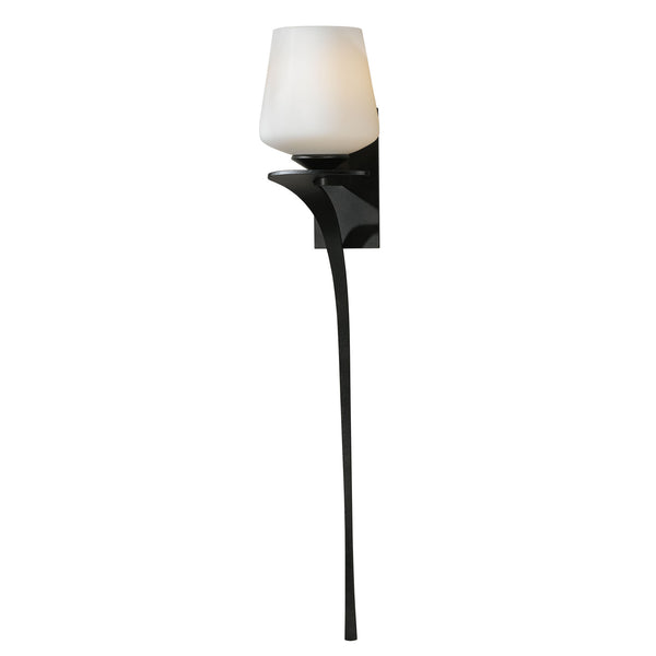 Hubbardton Forge 204710-1054 Wall Light Antasia Single Glass 1 Light Sconce in Dark Smoke