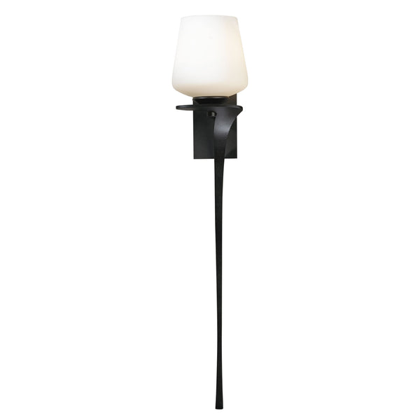 Hubbardton Forge 204710-1078 Wall Light Antasia Single Glass 1 Light Sconce in Dark Smoke