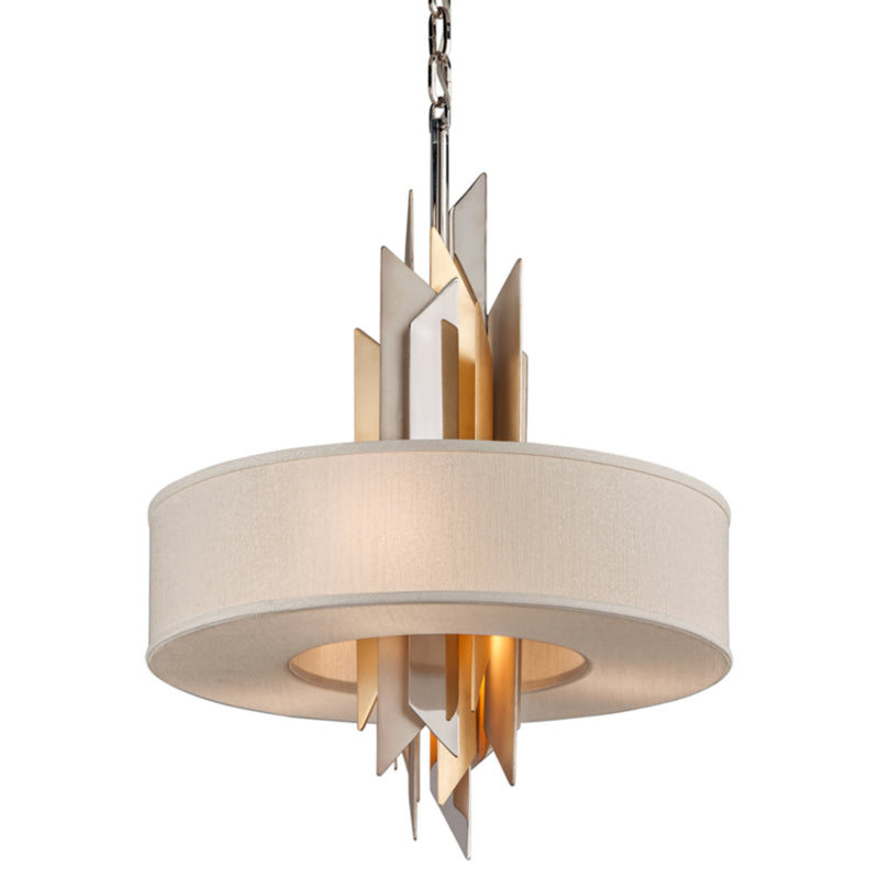 Corbett Lighting 207-44 Modernist 4lt Pendant in Hand-Crafted Iron And Stainles