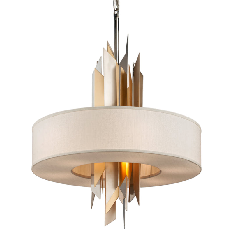 Corbett Lighting 207-48 Modernist 8lt Pendant in Hand-Crafted Iron And Stainles
