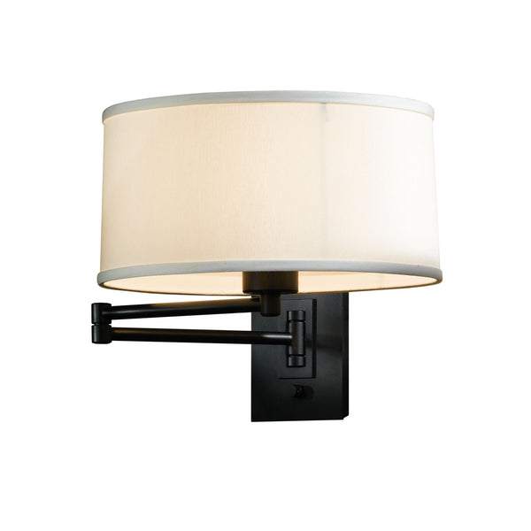 Hubbardton Forge 209250-1023 Wall Light Simple Swing Arm Sconce in Black