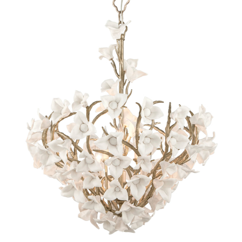 Corbett Lighting 211-47 Lily 6lt Pendant in Hand-Crafted Iron