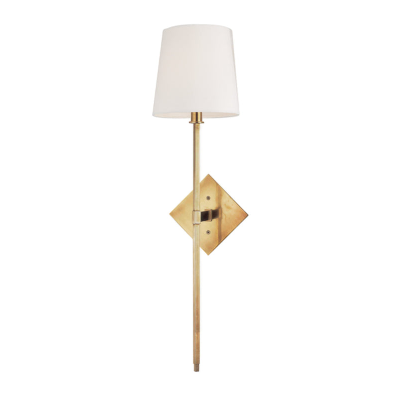 Hudson Valley Lighting 211-AGB Cortland 1 Light Wall Sconce in Aged Brass