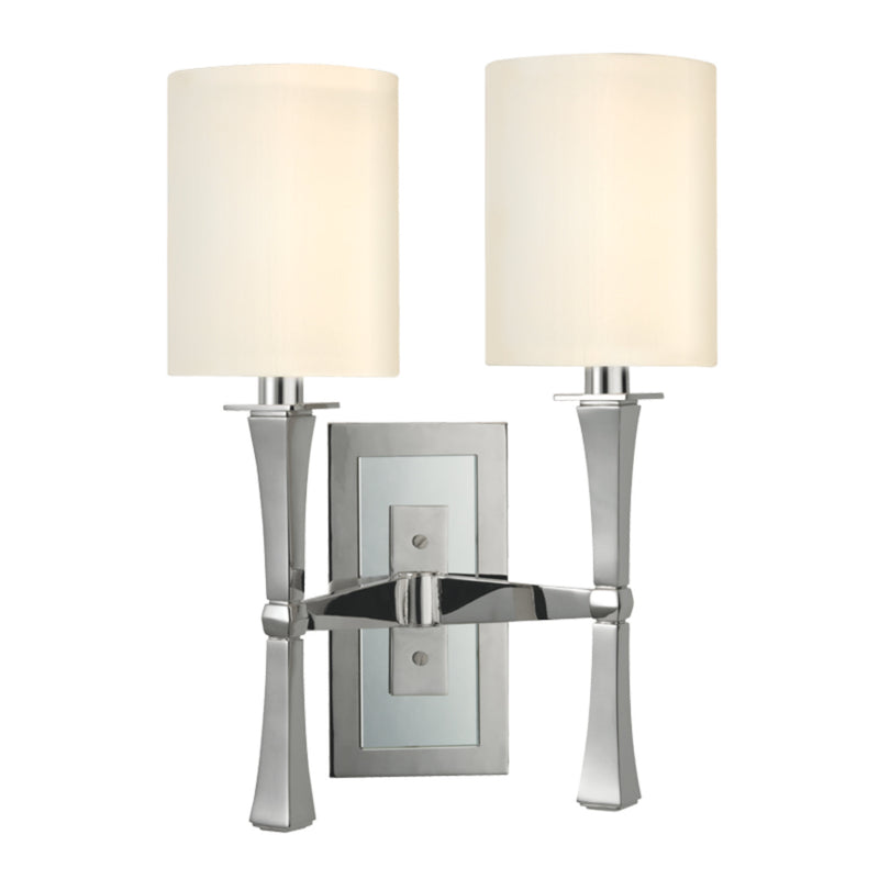 Hudson Valley Lighting 2112-PN York 2 Light Wall Sconce in Polished Nickel