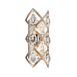 Corbett Lighting 214-12 Tiara 2lt Wall Sconce in Hand-Crafted Iron & Stainless
