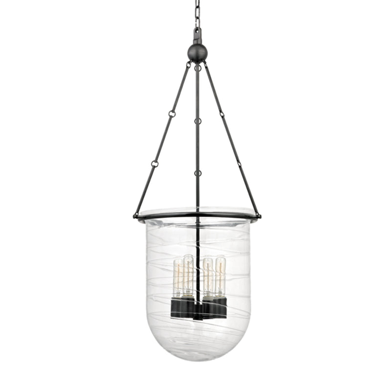 Hudson Valley Lighting 214-OB Willet 4 Light Pendant in Old Bronze