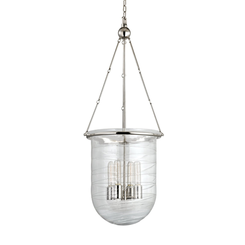 Hudson Valley Lighting 214-PN Willet 4 Light Pendant in Polished Nickel