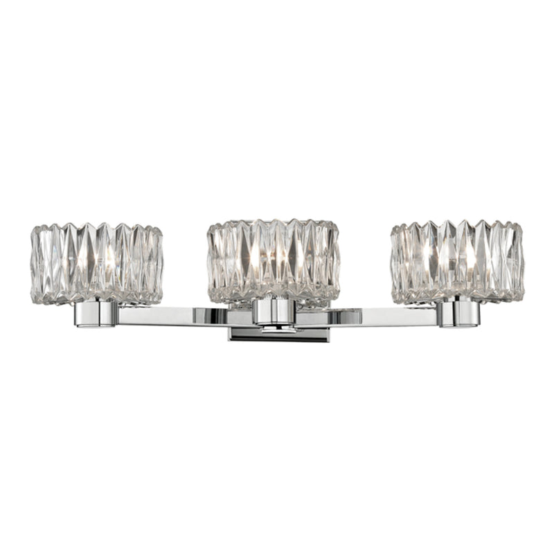 Hudson Valley Lighting 2173-PC Anson 3 Light Bath Bracket in Polished Chrome