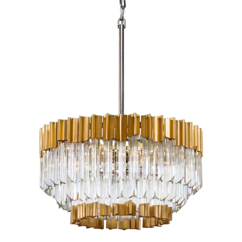 Corbett Lighting 220-42 Charisma 5lt Pendant in Hand-Crafted Stainless And Alu