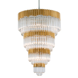 Corbett Lighting 220-717 Charisma 17lt Pendant Entry in Hand-Crafted Stainless And Alu