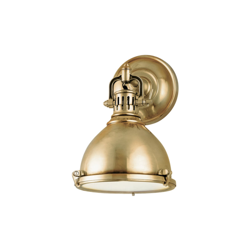 Hudson Valley Lighting 2209-AGB Pelham 1 Light Wall Sconce in Aged Brass