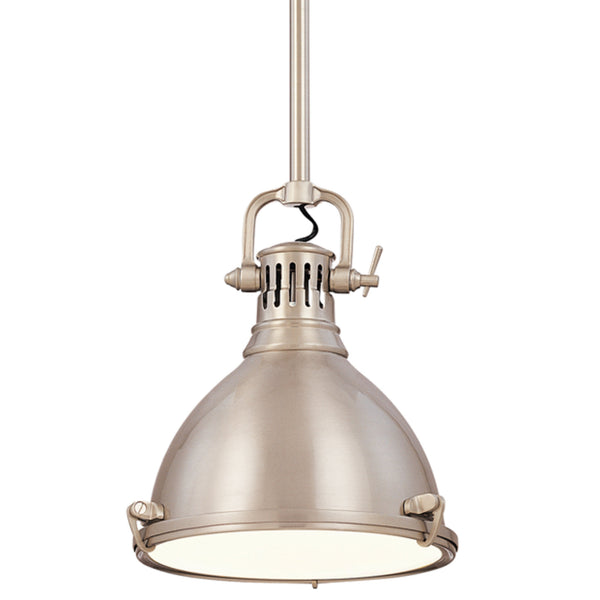 Hudson Valley Lighting 2211-SN Pelham 1 Light Pendant in Satin Nickel