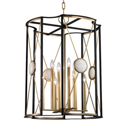 Hudson Valley Lighting 2223-AGB Cresson 8 Light Pendant in Aged Brass