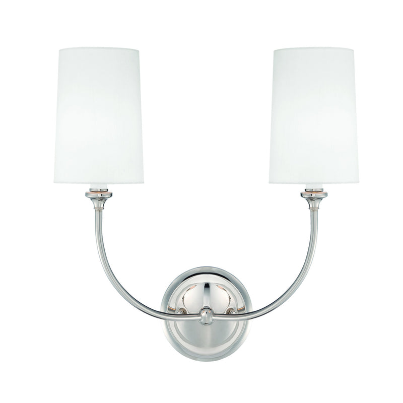Crystorama 2242-PN Sylvan Wall Mount in Polished Nickel