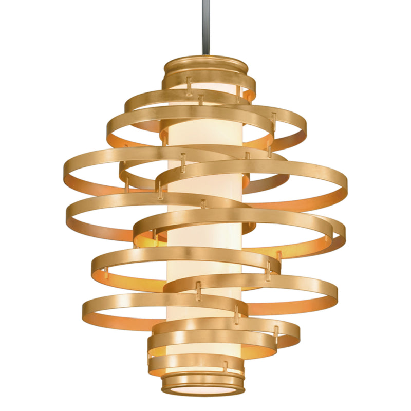 Corbett Lighting 225-44 Vertigo 4lt Pendant Large in Hand-Crafted Iron
