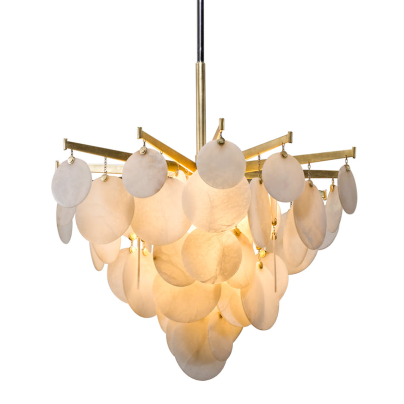Corbett Lighting 228-43 Serenity 1lt Pendant Medium in Crafted Aluminum And Stainless
