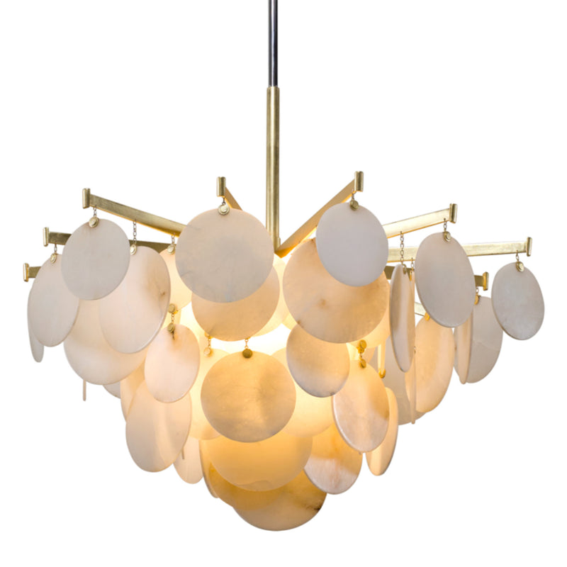 Corbett Lighting 228-44 Serenity 1lt Pendant Large in Crafted Aluminum And Stainless