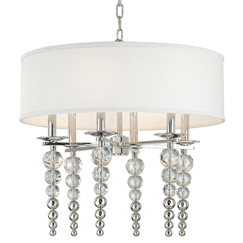 Hudson Valley Lighting 2324-PN Persis 6 Light Pendant in Polished Nickel