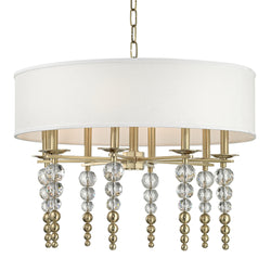Hudson Valley Lighting 2330-AGB Persis 8 Light Pendant in Aged Brass