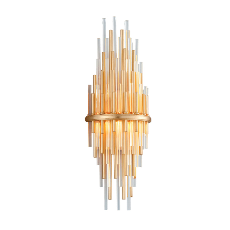 Corbett Lighting 238-12 Theory 1lt Wall Sconce Tall in Crafted Iron And Stainless