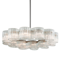 Corbett Lighting 240-412 Circo 12lt Pendant in Crafted Iron And Stainless