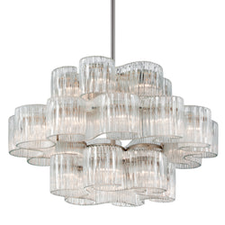 Corbett Lighting 240-424 Circo 24lt Pendant in Crafted Iron And Stainless