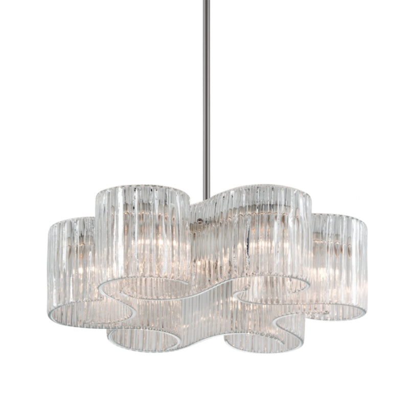 Corbett Lighting 240-46 Circo 6lt Pendant in Crafted Iron And Stainless