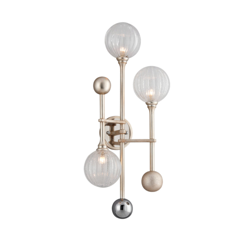 Corbett Lighting 241-13 Majorette 3lt Wall Sconce in Crafted Iron And Stainless