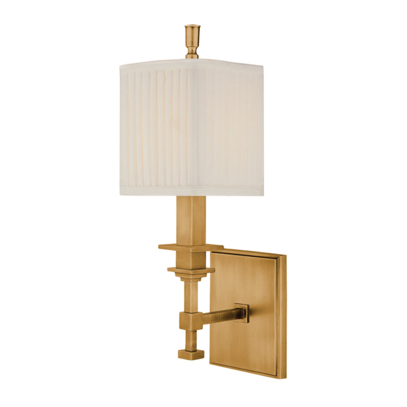 Hudson Valley Lighting 241-AGB Berwick 1 Light Wall Sconce in Aged Brass