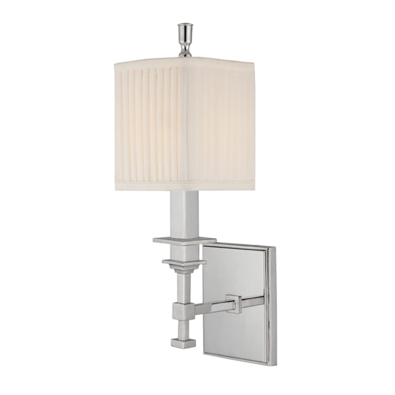 Hudson Valley Lighting 241-PN Berwick 1 Light Wall Sconce in Polished Nickel