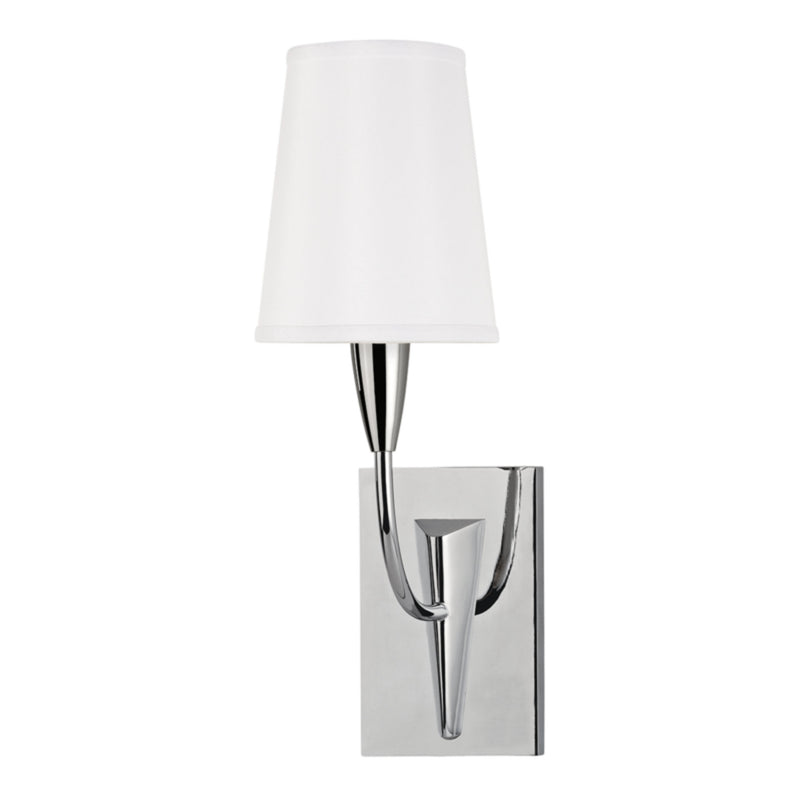 Hudson Valley Lighting 2411-PC-WS Berkley 1 Light Wall Sconce W/White Shade in Polished Chrome