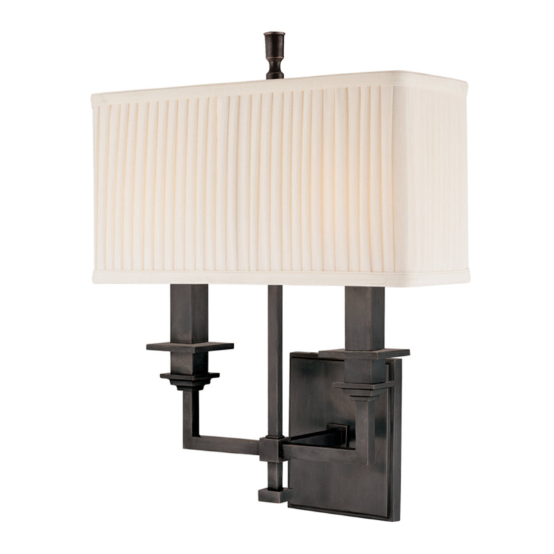 Hudson Valley Lighting 242-OB Berwick 2 Light Wall Sconce in Old Bronze