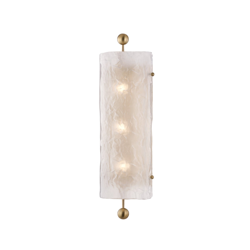 Hudson Valley Lighting 2422-AGB Broome 3 Light Wall Sconce in Aged Brass