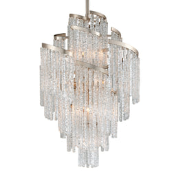 Corbett Lighting 243-413 Mont Blanc 13lt Chandelier in Hand-Crafted Iron