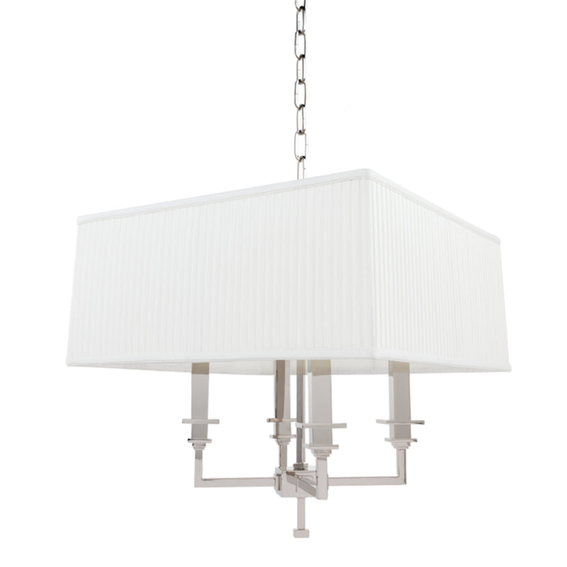 Hudson Valley Lighting 244-PN Berwick 4 Light Chandelier in Polished Nickel