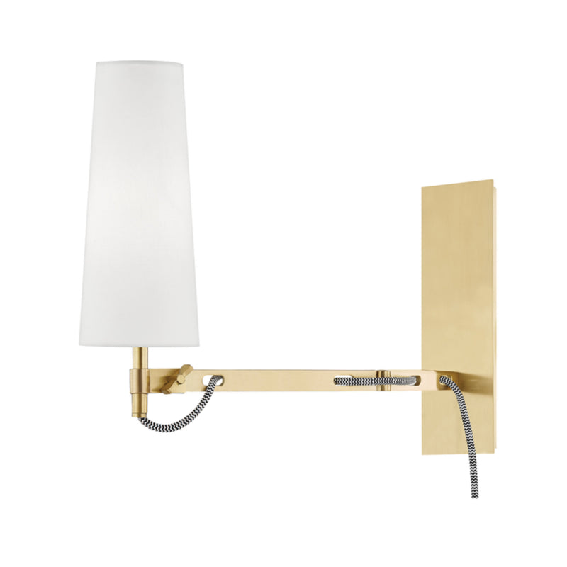 Hudson Valley Lighting 2441-AGB Lanyard 1 Light Wall Sconce W/ Plug in Aged Brass