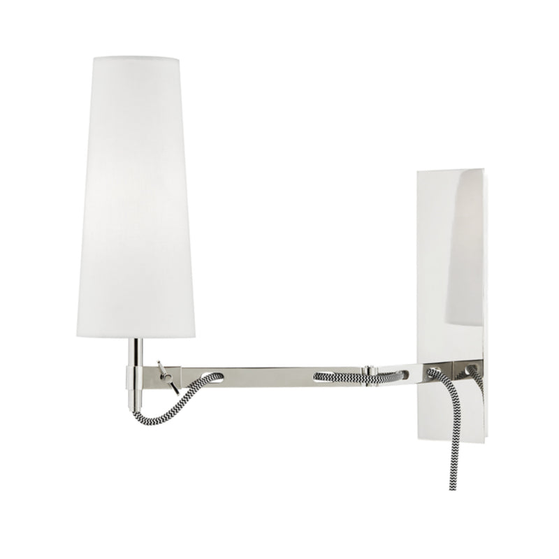 Hudson Valley Lighting 2441-PN Lanyard 1 Light Wall Sconce W/ Plug in Polished Nickel
