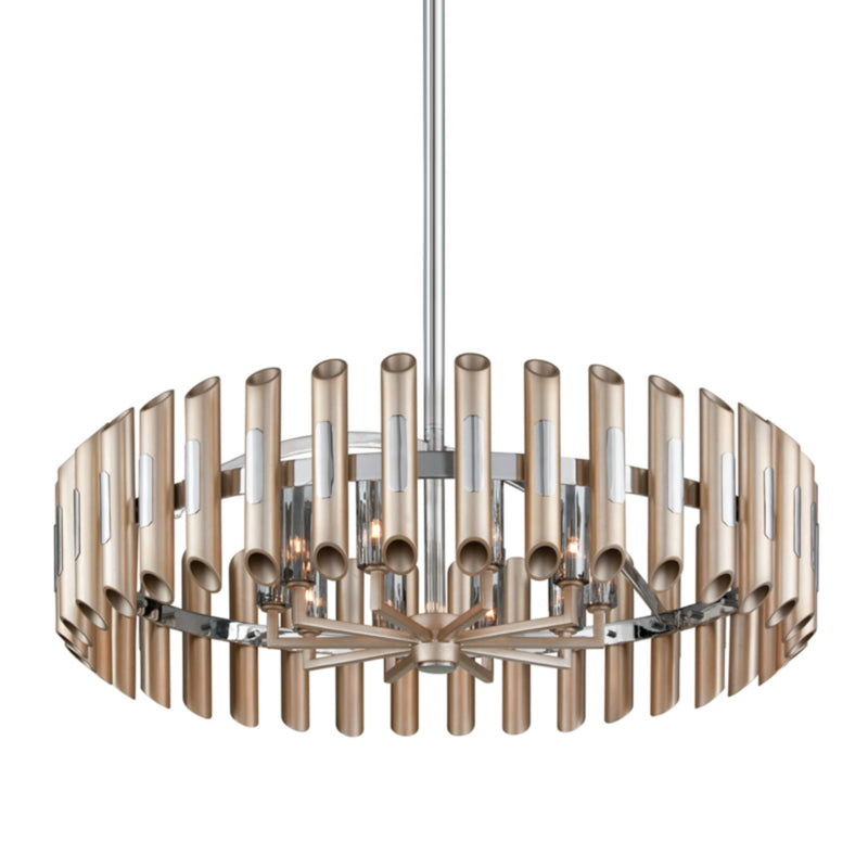 Corbett Lighting 245-410 Arpeggio 10lt Pendant in Crafted Iron And Stainless