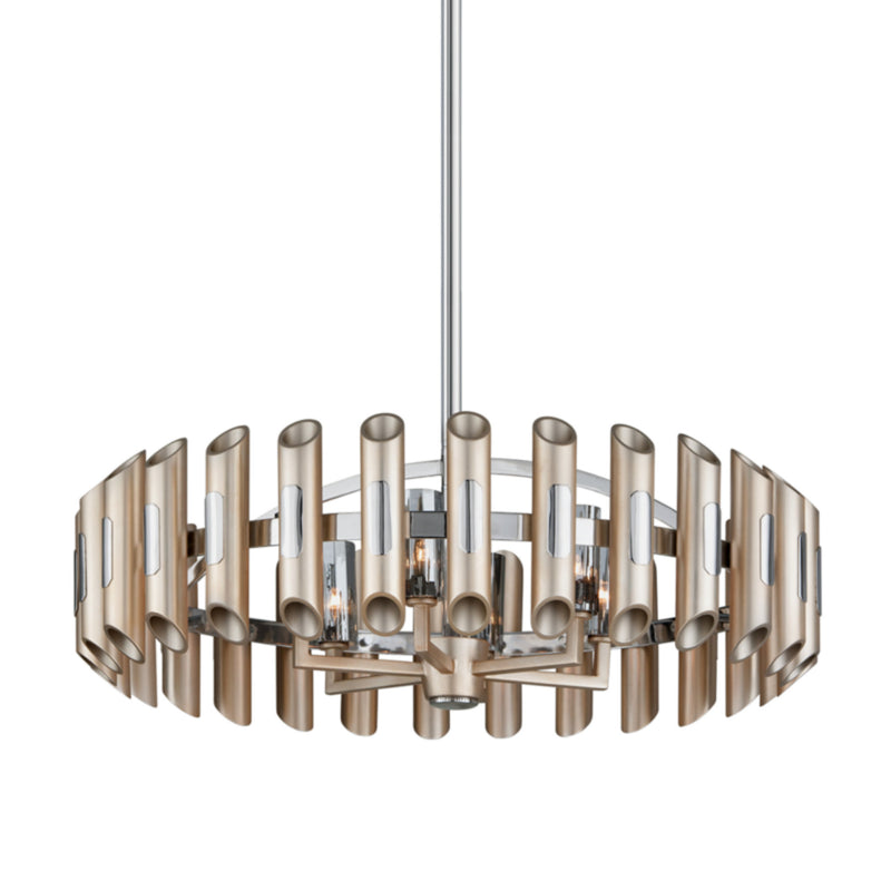 Corbett Lighting 245-46 Arpeggio 6lt Pendant in Crafted Iron And Stainless