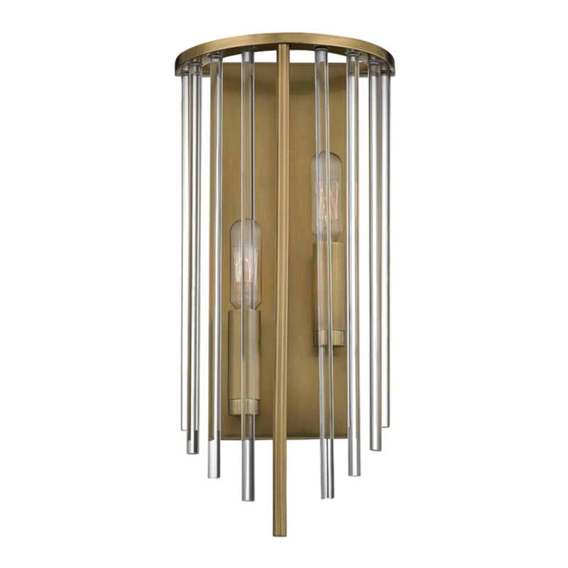 Hudson Valley Lighting 2511-AGB Lewis 2 Light Wall Sconce in Aged Brass