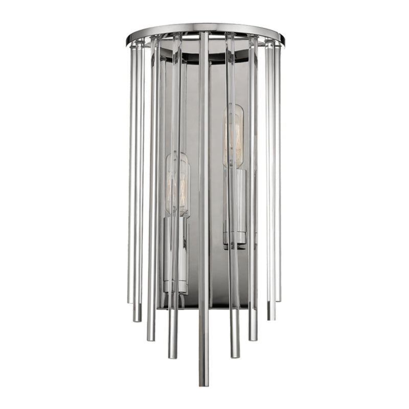 Hudson Valley Lighting 2511-PN Lewis 2 Light Wall Sconce in Polished Nickel