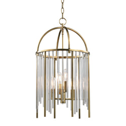 Hudson Valley Lighting 2512-AGB Lewis 4 Light Pendant in Aged Brass