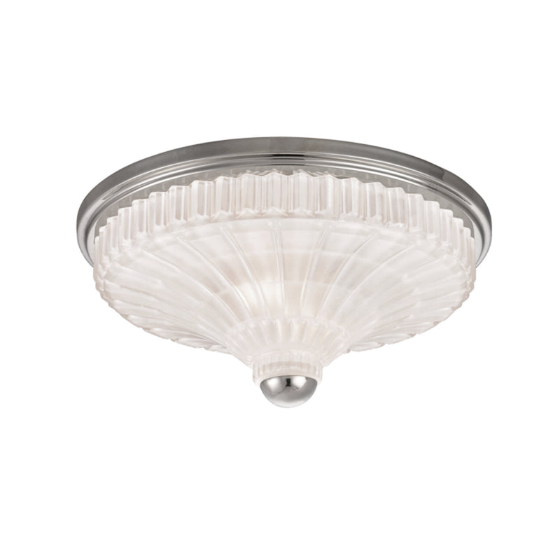 Hudson Valley Lighting 2513-PN Paris 2 Light Flush Mount in Polished Nickel