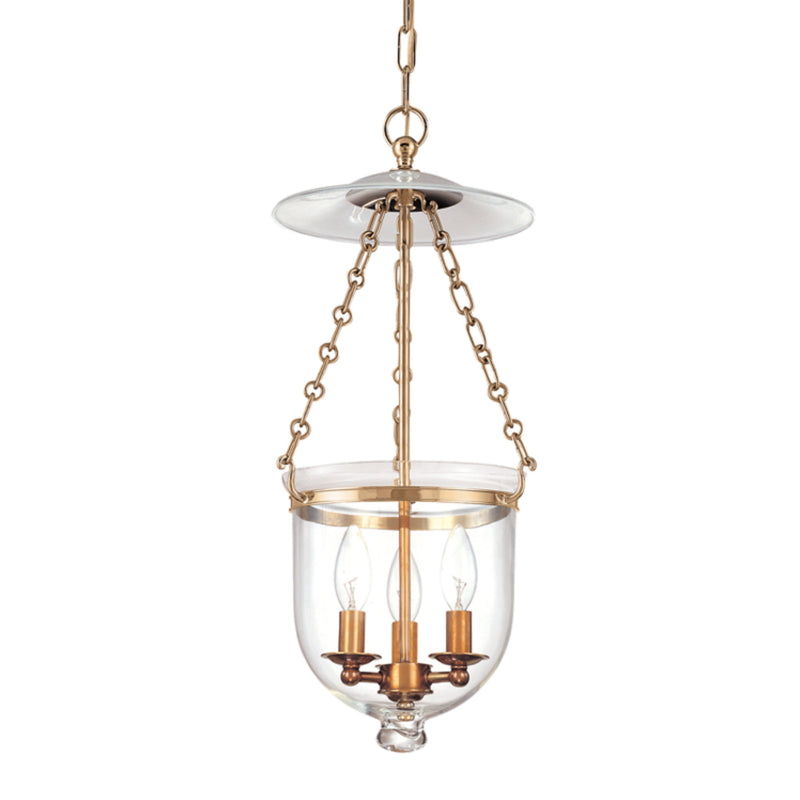 Hudson Valley Lighting 252-AGB-C1 Hampton 3 Light Pendant in Aged Brass