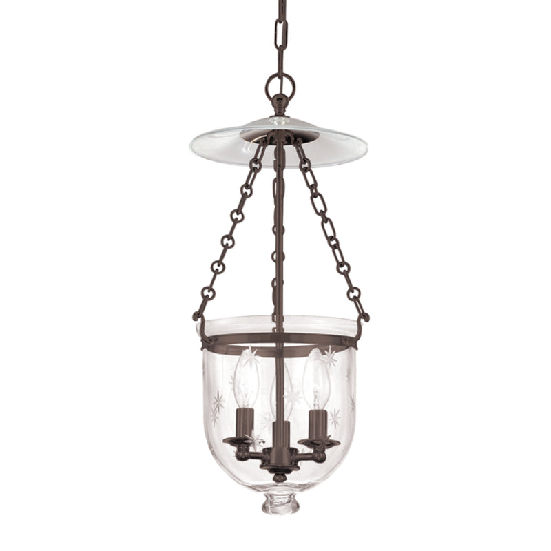 Hudson Valley Lighting 252-OB-C3 Hampton 3 Light Pendant in Old Bronze
