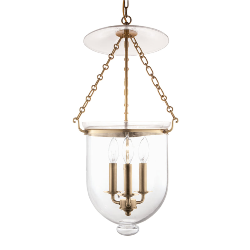 Hudson Valley Lighting 254-AGB-C1 Hampton 3 Light Pendant in Aged Brass