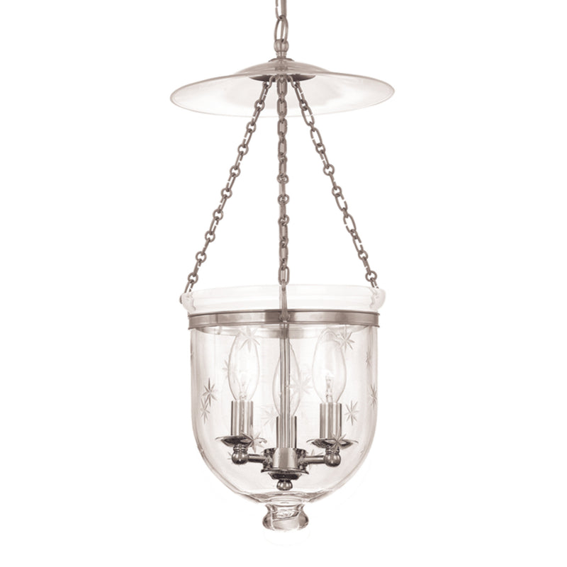 Hudson Valley Lighting 255-PN-C3 Hampton 4 Light Pendant in Polished Nickel