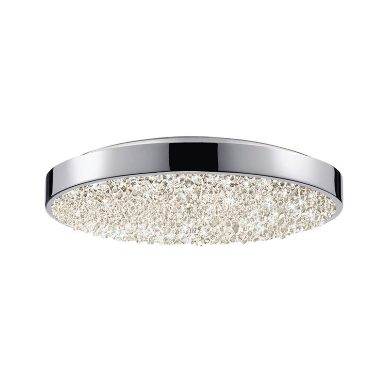 "Sonneman 2567.01 Dazzle 12"" Round LED Surface Mount in Polished Chrome"