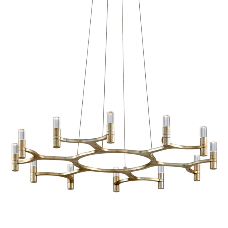 Corbett Lighting 258-012 Nexus 12lt Chandelier in Hand-Crafted Iron